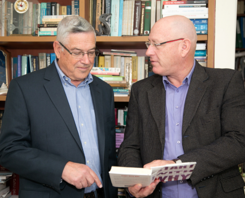 Prof. Kahane, Chairman, and Tal Ronen, President
